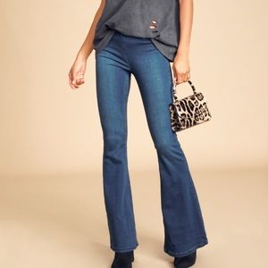 FREE PEOPLE FP PENNY PULL ON FLARE JEANS 29 NWT
